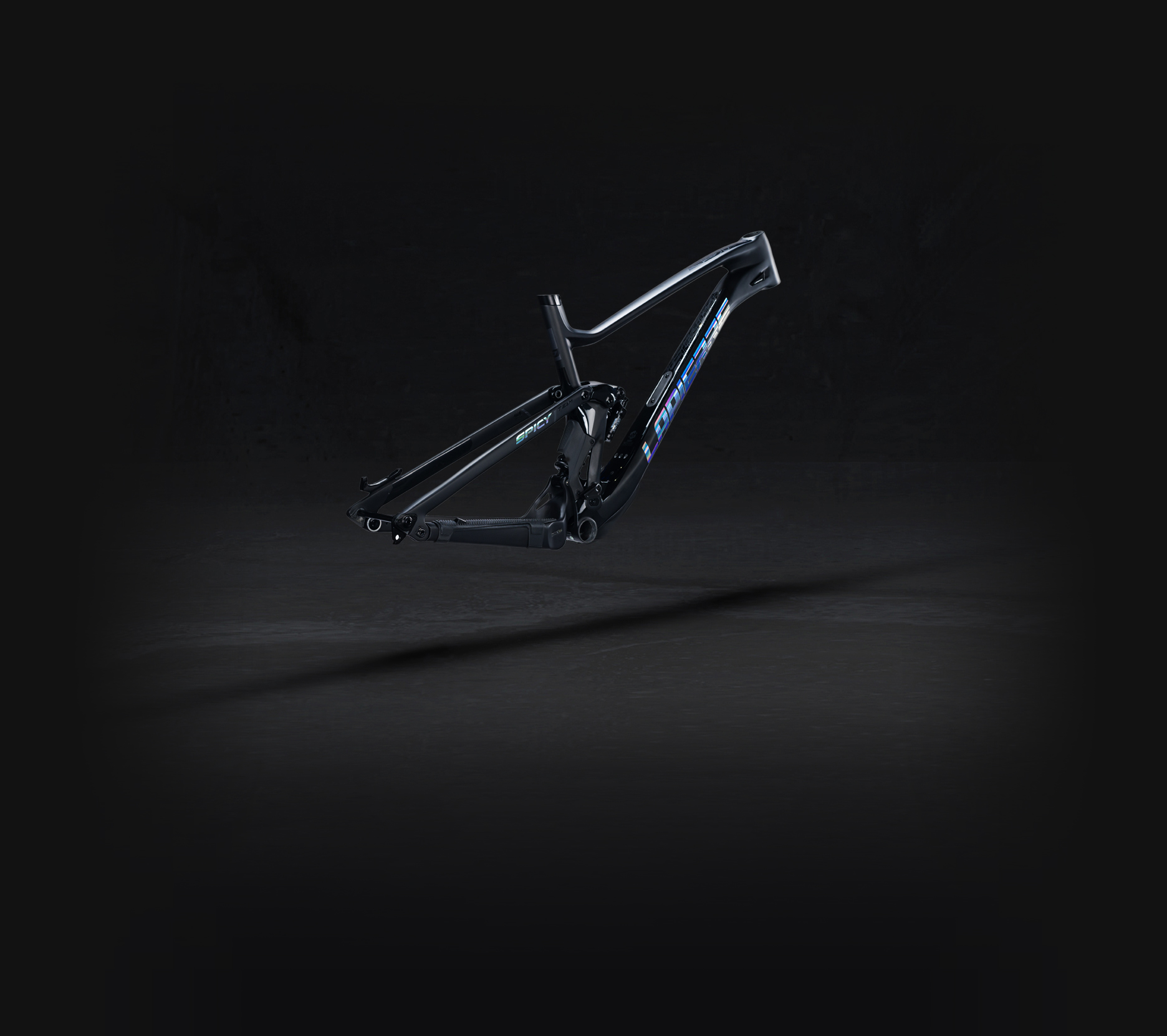Lapierre Spicy team frame kit right side view on a black background