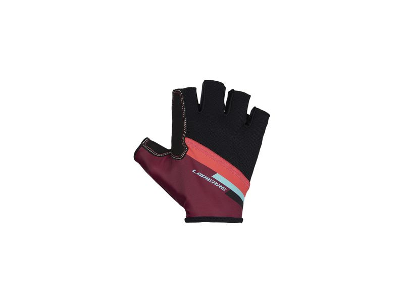 Lapierre short purple cycling gloves - front